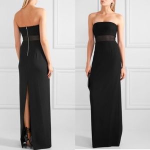 Elizabeth and James 🖤 Nicole Black Strapless Gown